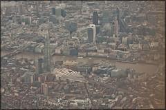 The Shard of London (elevationair ✈) Tags: london lhr egll england unitedkingdon uk aerialview europe thames riverthames river shard theshard theshardoflondon thergherkin gherkin stack holdingstack bovingdon bovingdonhold approachtoheathrowairport londonfromaplanewindow