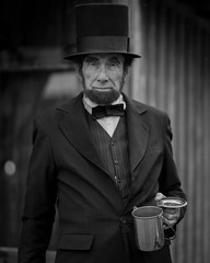 Abe Lincoln (Jose Matutina) Tags: abrahamlincoln caifornia calico civilwar historical history mining reenactment reenactors sel85f14gm sonya7ii yermo