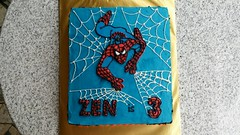 Spiderman Cake (Celebrate With A Cake) Tags: spiderman childrenscake birthday buttericing cake
