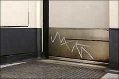 XK (Alex Ellison) Tags: xk tag insides tubetrain londonunderground urban graffiti graff boobs