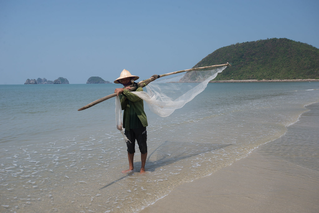 Fishing on Ngoc Vung Island