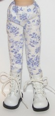White Tights With Blue Flowers For Blythe...