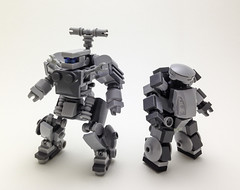 Gunjin and Chub (markwisski) Tags: lego mecha mf0 mobileframezero
