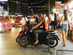 Bike Taxis, cool! (kawabek) Tags: thailand market bangkok motorcycle 市場 タイ biketaxi オートバイ バイク バンコク thaibike ตลาด prachasongkhro バイクタクシー タイバイク