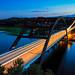Blue hour at the Loop 360 Bridge