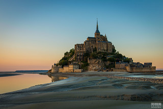 Sunset over Mont St. Michel, France (explored)