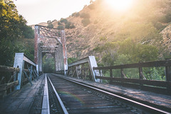 We found it!! (Khoazy City) Tags: california road bridge trees abandoned film look lines metal forest train way landscape other nice sand woods scenery track day grafitti with angle cloudy outdoor no secret tag low think tracks rail tags can any filter trespass middle passage tagging ghetto leading towards beams gravel ohhh ig sunol i instagram