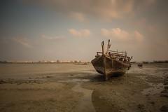Untitled (heshaaam) Tags: sea sky clouds landscape bahrain ship dhow arad muharraq