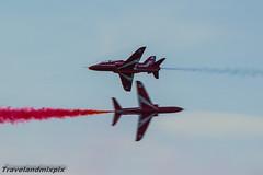 Red Arrows (travelandmixpix) Tags: hawk ayr redarrows aerobatics britishaerospace baesystems lowgreen scottishairshow2015