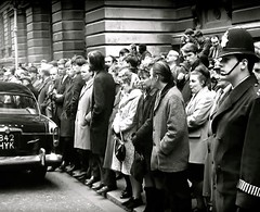 Budget Day 1968, Downing Street, Westminster, London, SW1. UK. (sgterniebilko) Tags: uk london westminster 60s uniform ad 1960s 1968 sw1 downingstreet londonpolice scotlandyard metropolitanpolice alphadelta chancelloroftheexchequer policeconstable policelondon cannonrowpolicestation budgetday1968 royjenkinsmp