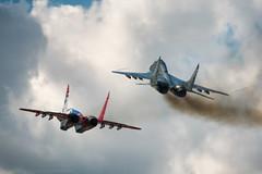 AP0A8879 (Nikolay Krasnov) Tags: show blue sky clouds plane canon airplane force russia moscow aircraft aviation air flight bluesky follow since airshow helicopter mig sukhoi antonov ruaf sigma120400 5dmk3