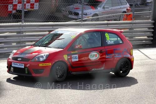 Bradley Burns in the Fiesta Junior Championship, Brands Hatch, 2015