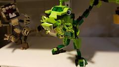 Lego Mixel Moc, series 2, T rex. (miketvas) Tags: robot lego dinosaur series trex mech tyrannosaurus moc tyrannosaur mixel glorp mixels legomixelmoc