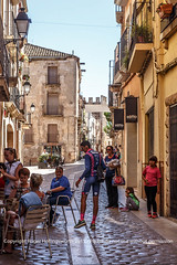 Visit to the medieval town of Montblanc (doublejeopardy) Tags: street spain shade catalunya es montblanc
