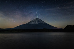 Wishing on a Shooting Star (Yuga Kurita) Tags: nature japan night stars shower star fuji mt nightscape mount fujisan shooting meteor fujiyama starscape landscapa