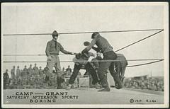 Archiv 435 USA, Boxing, 1917 (Hans-Michael Tappen) Tags: sports sport vintage ring boxer boxing 1910s schiedsrichter 1917 boxen boxkampf boxring 1910er archivhansmichaeltappen campsport