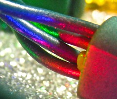 christmas, close up (muffett68 ☺☺) Tags: blue red green yellow wires minilights veryverycloseup