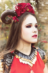 Marina (Florent Joanns) Tags: portrait rose photography 50mm photo marseille shoot modeling makeup shooting horn mode hairstyle headpiece 2015