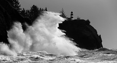 Giant Backsplash 4 (cookinghamus) Tags: lighthouse storm washington waves hightide capedisappointment highwaves epicwaves
