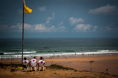 Nothing much to do (tokenmus) Tags: sea sky beach landscape coast seaside spain outdoor lifeguard shore baywatch santillanadelmar spanje2015