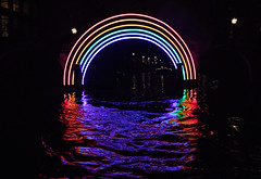 Amsterdam Light Festival (Clare Forster) Tags: amsterdam light night canal boat
