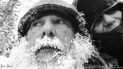 Frozen beard (jondewi52) Tags: black beard frozen nature outdoors outdoor people man woman snow white blackandwhite monochrome