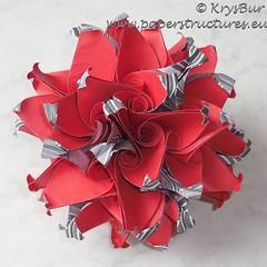 Squadron  (K16048) (Origami Spirals) Tags: curler paper fold twirl origami burczyk folding art krysbur