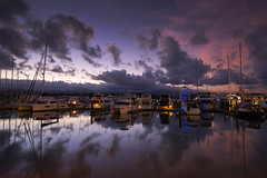 Marina Sunset (Tracey Whitefoot) Tags: tracey whitefoot 2016 australia queensland port douglas marina sunset boats reflection reflections dusk calm still clouds north east coast