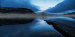 Misty Lake (whidom88) Tags: wow lake ireland light mist mood blue still water winter