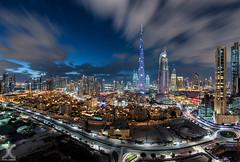 Dubai Downtown (DanielKHC) Tags: uae dubai burj khalifa cityscape long exposure clouds downtown digital blending nikon d810 nikkor 16mm fisheye