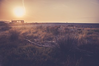 Sunrise on the beaches of Hospitalet