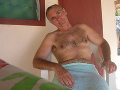 After Bath - Après le bain (♥Dany_de_Paris♥) Tags: fkk nu dude erotic model nude naturist male homme poilu bear senior peludo hairy naked selfie self