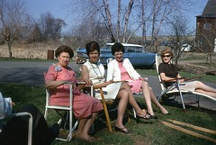 Easter 1968 (63vwdriver) Tags: easter 1968 warehouse point east windsor ct connecticut outside lawn chairs
