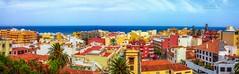 Über den Dächern von Puerto de la Cruz (felizphoto) Tags: puertodelacruz puerto altstadt city zentrum stadt stadtmitte tenerife felizphoto teneriffa dächer vonoben urlaub reiseziel