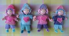 Handmade mini fairy folk by me (redmermaidwerewolf) Tags: handmade little mini miniature doll pipecleaners wooden beads painted felt fairy gift salley mavor wee folk