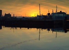 Scenic Sunset at Liverpool (Tony Worrall) Tags: liverpool merseyside mersey scouse england northern uk update place location north visit area county attraction open stream tour country welovethenorth northwest unitedkingdom sun sunset shine gold golden settingsun sunlit late dusk night evening sky glow glowing hue beauty nature outside outdoors glowingsun wet wetreflection docks water waterway scenic serene scenery season colourful