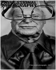 2017_365-14 - My name is ... (Kenny Boy1) Tags: glasses magazine nadavkander michaelcaine professionalphotographer mono blackandwhite