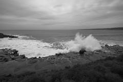 La Jolla Cove splash B&W (borders92109) Tags: surf slowshutter wideangle rocks blackandwhite splash waves california sandiego lajolla ocean beach