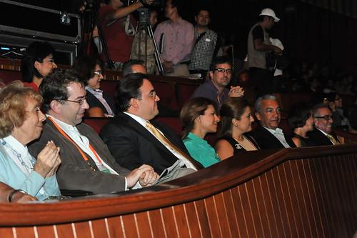 El gobernador Javier Duarte de Ochoa asistió al Concierto del compositor Michael Nyman.