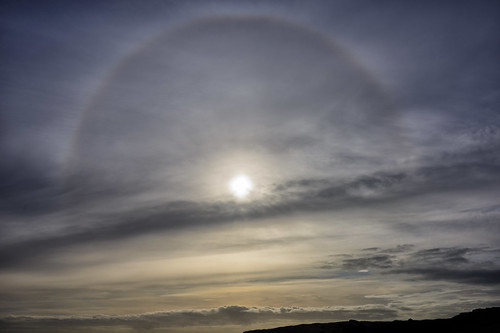 Sun Halo over Seaford Head