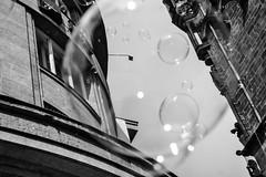 Prague B&W (sallaimisi) Tags: czech air blackandwhite bubble bubbleologist building city dayight daytime entertainment float floating levitate liquid monochrome performance prague republic shining soap soar soaring street white