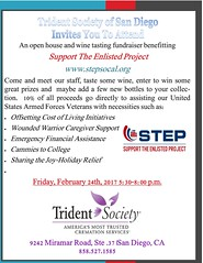 "Trident Society San Diego, CA - ""Support the Enlisted Project"" Charity Event"
