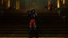 SkyrimSE 2017-03-12 12-16-56 (Xyaran aka Cromer) Tags: skyrim skyrimse skyrimspecialedition elderscrolls windhelm girls warrior booty dress armor vampire night cold skuldafn sword bow