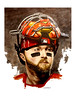 Cincinnati Reds catcher Tucker Barnhart (BT Illustrations) Tags: reds cincinnatireds mlb baseball art watercolors watercolor tuckerbarnhart catcher