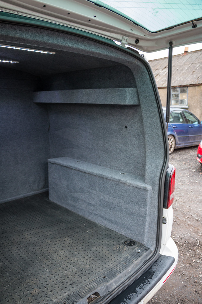 586a9f87cb VW Transporter T5 - Carpet Lining  amp  LED Lights-6 (Van Line NI