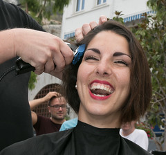 SHYANNE SHAVE-OFF CHARITY EVENT (jonathan manasco) Tags: charity urban dog square dance model cancer off relief shave squad miss gibraltar role casemates shyanne 2014 azzopardi