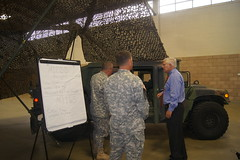 Congressman Sessions visiting the National Guard Armory in Wylie