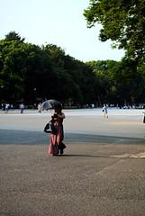 Ueno Park. (Alice Brugnoli) Tags: park parco sun girl umbrella ueno sole ombrello ragazza parasole