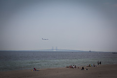 On the other side (Ariadni's Thread) Tags: beach copenhagen denmark horizon amager windturbines amagerstrand ontheotherside oresundbridge windmillpark offshorewind danishsea windturbinepark