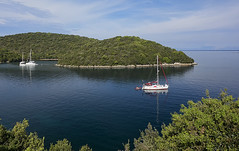 Breakfast view (ORIONSM) Tags: sea island bay boat yacht sony greece sail ionian syvota rx100